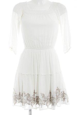 Abercrombie & Fitch Vestido de manga larga blanco estilo romántico