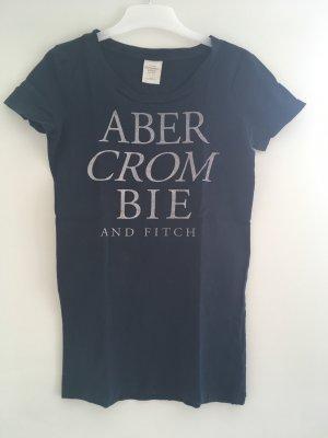 Abercrombie & Fitch Camicia fantasia blu scuro-grigio chiaro
