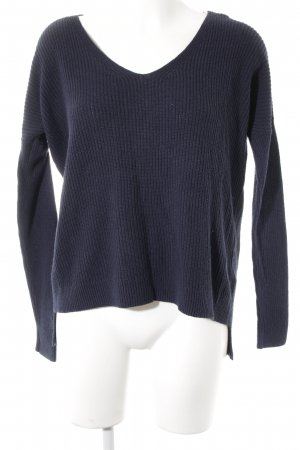 Abercrombie & Fitch Long Sweater dark blue cable stitch casual look