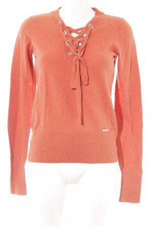 Abercrombie & Fitch Longpullover dunkelorange Casual-Look
