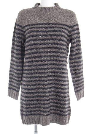 Abercrombie & Fitch Longpullover graubraun-schwarz Streifenmuster Casual-Look