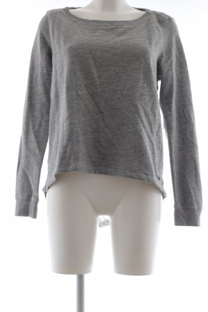 Abercrombie & Fitch Longpullover hellgrau College-Look