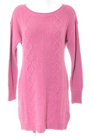Abercrombie & Fitch Jersey largo rosa punto trenzado look casual
