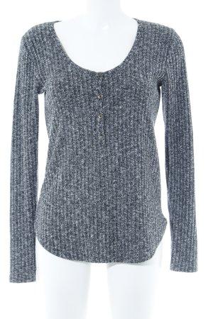 Abercrombie & Fitch Longpullover schwarz-grau meliert schlichter Stil