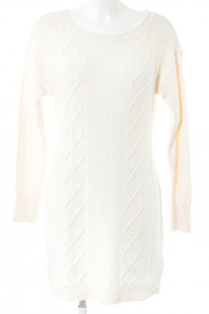 Abercrombie & Fitch Jersey largo blanco puro punto trenzado look casual