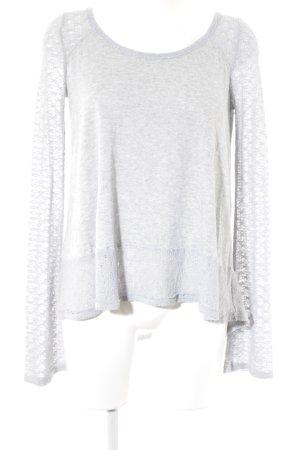 Abercrombie & Fitch Longshirt hellgrau-blassblau meliert Casual-Look