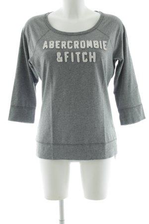 Abercrombie & Fitch Manica lunga grigio chiaro Stampa a tema stile casual