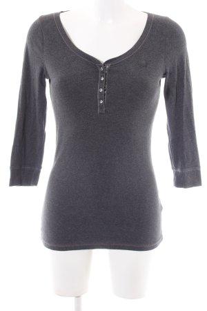 Abercrombie & Fitch Manica lunga grigio chiaro puntinato stile casual