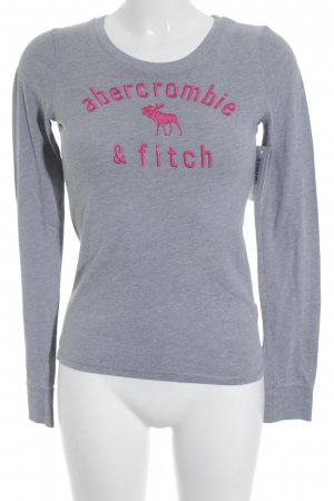 Abercrombie & Fitch Longsleeve grau-magenta Casual-Look