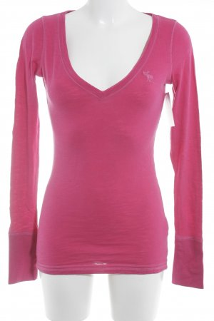 Abercrombie & Fitch Longsleeve pink schlichter Stil