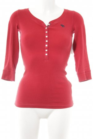 Abercrombie & Fitch Longsleeve red simple style