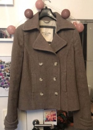 Abercrombie & Fitch Short Coat grey brown
