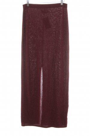 Abercrombie & Fitch Maxi Skirt bordeaux flecked casual look