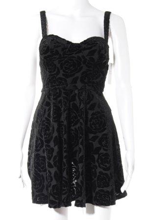 Abercrombie & Fitch Minikleid schwarz Blumenmuster extravaganter Stil