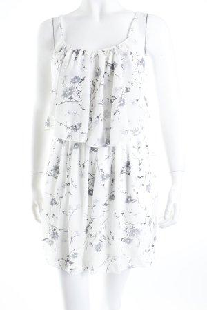 Abercrombie & Fitch Minikleid weiß-grau Blumenmuster Casual-Look