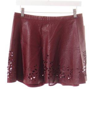 Abercrombie & Fitch Minirock braunrot Street-Fashion-Look