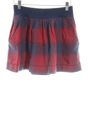 Abercrombie & Fitch Minirock dunkelblau-rot Karomuster extravaganter Stil