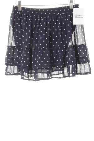 Abercrombie & Fitch Minifalda azul oscuro-blanco Poliéster