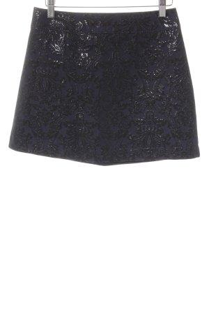 Abercrombie & Fitch Minirock schwarz-dunkelblau Ornamentenmuster Elegant