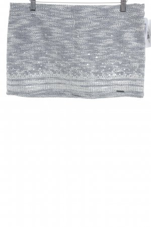 Abercrombie & Fitch Minirock weiß-blau Farbverlauf Casual-Look