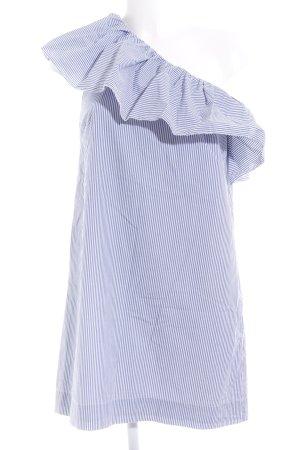 Abercrombie & Fitch One-Shoulder-Kleid stahlblau-weiß Streifenmuster Party-Look