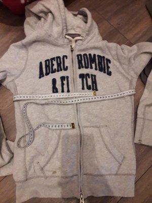 Abercrombie & Fitch Chaqueta de tela de sudadera gris claro