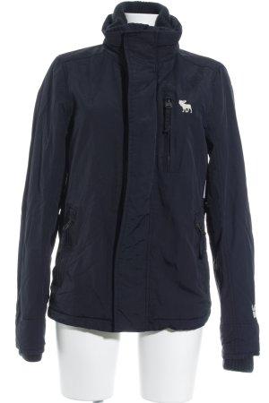 Abercrombie & Fitch Veste d'extérieur bleu foncé Broderie de logo