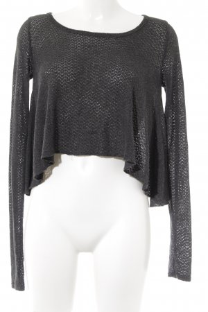 Abercrombie & Fitch Oversized Pullover dunkelgrau-grau Lochstrickmuster