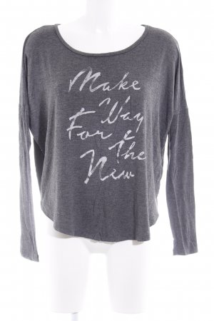 Abercrombie & Fitch Oversized shirt donkergrijs gedrukte letters