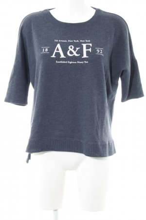 Abercrombie & Fitch Oversized Shirt graublau-wollweiß Casual-Look