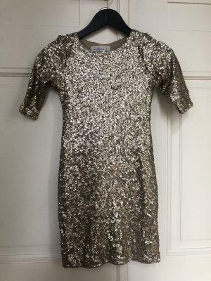 Abercrombie & Fitch Pailletten Kleid Gold Gr.xs