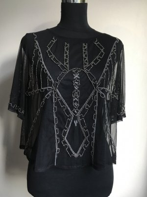 Abercrombie & Fitch Blouse Top black-silver-colored