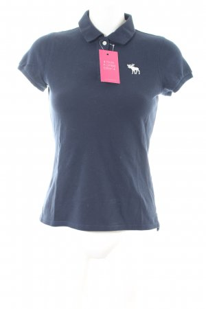 Abercrombie & Fitch Polo-Shirt blau Casual-Look