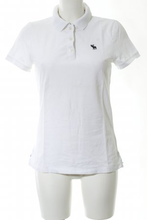 Abercrombie & Fitch Polo-Shirt weiß Motivdruck Business-Look