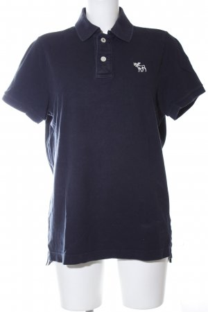 Abercrombie & Fitch Polo shirt blauw casual uitstraling