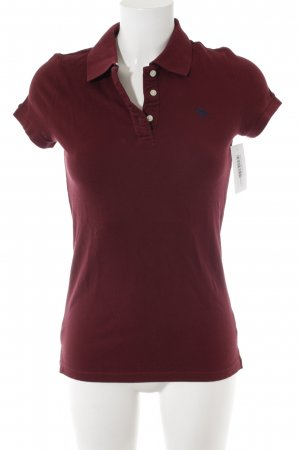 Abercrombie & Fitch Polo-Shirt bordeauxrot Casual-Look