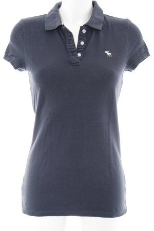 Abercrombie & Fitch Polo-Shirt dunkelblau schlichter Stil