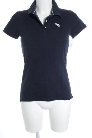 Abercrombie & Fitch Polo-Shirt dunkelblau-weiß schlichter Stil