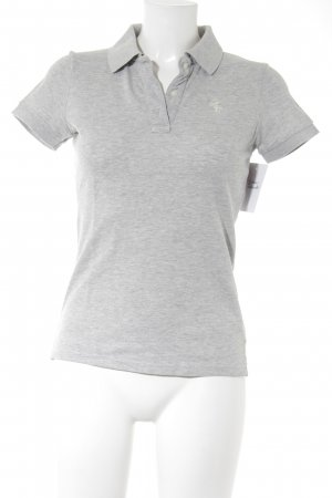Abercrombie & Fitch Polo gris clair style universitaire