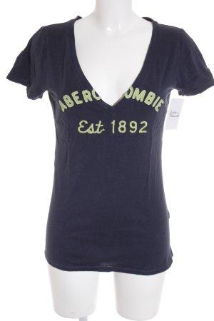 Abercrombie & Fitch Polo-Shirt magenta-dunkelblau Beach-Look