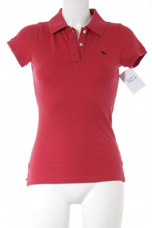 Abercrombie & Fitch Polo-Shirt rot College-Look