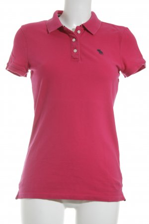 Abercrombie & Fitch Polo-Shirt violett Casual-Look