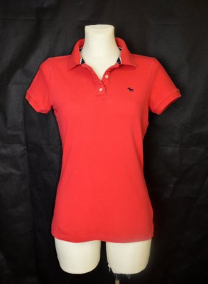 ABERCROMBIE & FITCH POLOSHIRT GR. L ROT