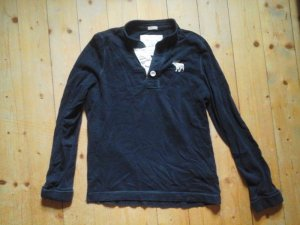Abercrombie & Fitch Poloshirt Pullover dunkelblau Gr. L Elch