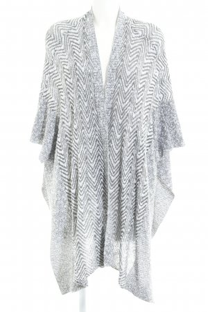 Abercrombie & Fitch Poncho white-dark grey flecked casual look