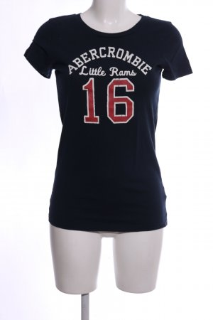 Abercrombie & Fitch Camicia fantasia nero Stampa a tema stile casual
