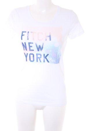 Abercrombie & Fitch T-shirt imprimé gradient de couleur style décontracté
