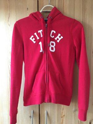 Abercrombie & Fitch Jersey con capucha blanco-rojo