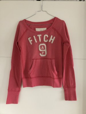 Abercrombie & Fitch Pull rouge brique-beige clair