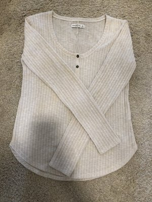 Abercrombie & Fitch Long Sweater natural white
